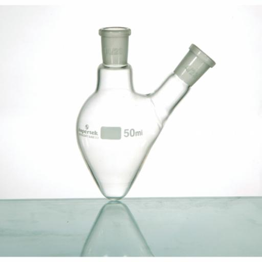 Flask, Pear Shape, Two Necks 100ml