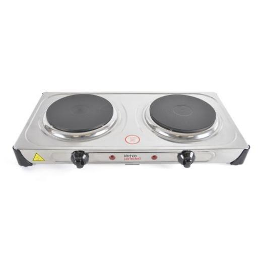 Double Hotplate 2000w - Stainless Steel