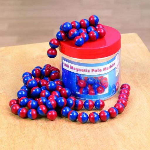 Magnetic Pole Marbles Tub - Pk100