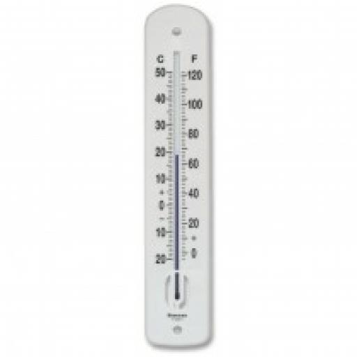 Large plastic wall thermometer