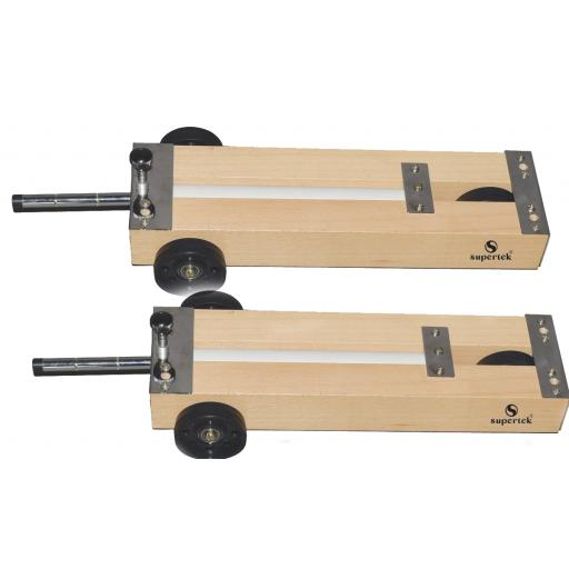 DYNAMIC TROLLEY SET, WOODEN, PAIR