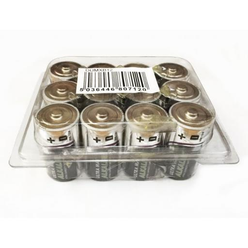 D TYPE ULTRA MAX ALKALINE BATTERY PK12