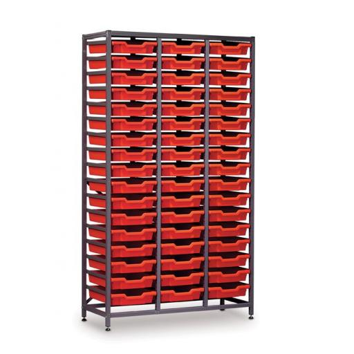 Gratnells 3625F1 Tall Treble Frame With 51 Shallow Trays