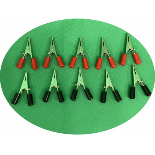 Crocodile clips pk10