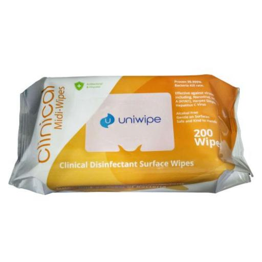 Uniwipe Clinical Disinfectant Surface Wipes 200 Pack