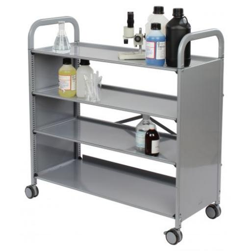 Callero Plus Flat Shelf Unit with 4 shelves