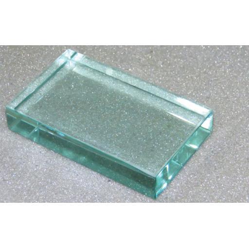 GLASS BLOCK, 100 x 60 x 18 mm
