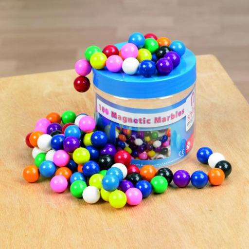 Magnetic Marbles Tub - Pk100