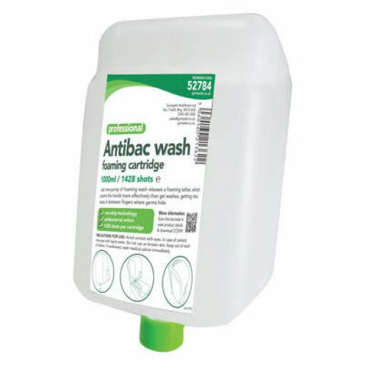 Antibacterial Foam Handwash 1000ml Cartridge pk3