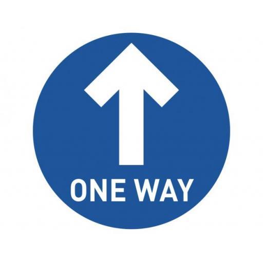 ONE WAY FLOOR SIGN