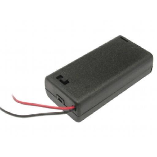2 X AA SWITCHED Battery Box