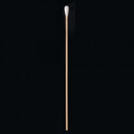Plain swab, wooden shaft, cotton tip