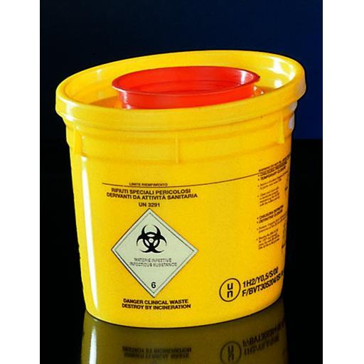 4L Sharps container, round