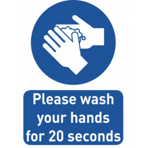 HAND WASH SIGN A4
