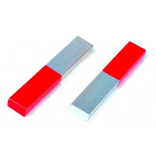Chrome Steel Bar Magnet - 100 x 15 x 6mm Pk2