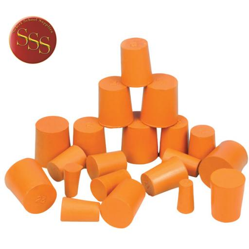 RUBBER STOPPER SOLID 15mm (Bottom 15mm) (Top 18mm) Length 24mm PK10