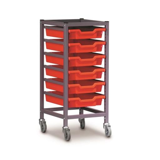Gratnells 1025S Trolley Set With 6 Shallow Trays