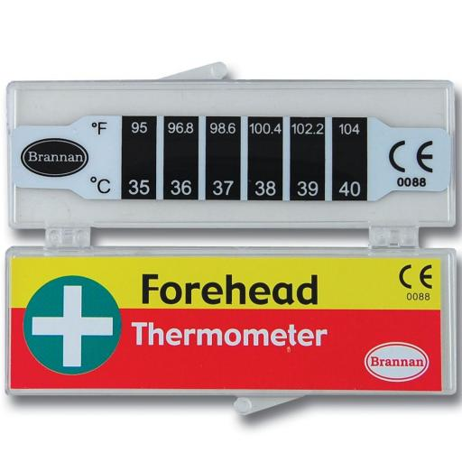 THERMOMETER, FOREHEAD STRIP, PLASTIC CASE