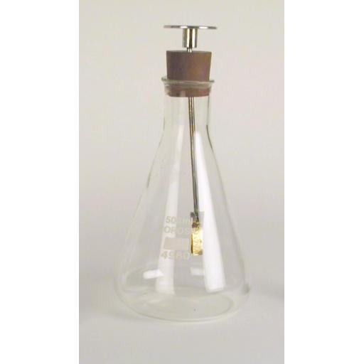 Gold Leaf Electroscope in Conical Flask