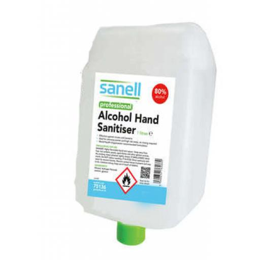 80% ALCOHOL HAND SANITISER 1000ml CARTRIDGE