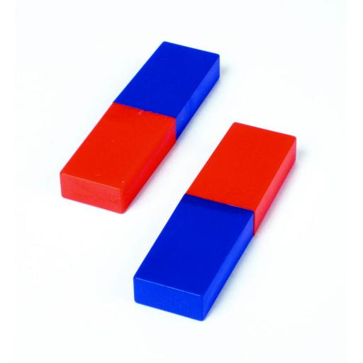 Plastic coated magnets pair