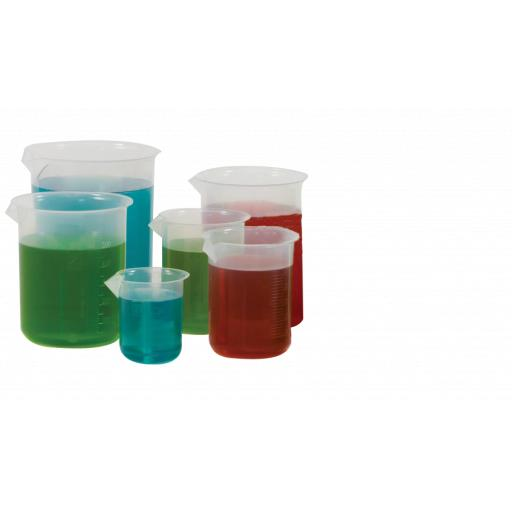 PLASTIC BEAKERS 100ml