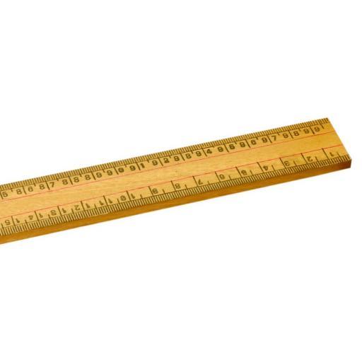 1 Metre scale wooden ruler CM Both Edges