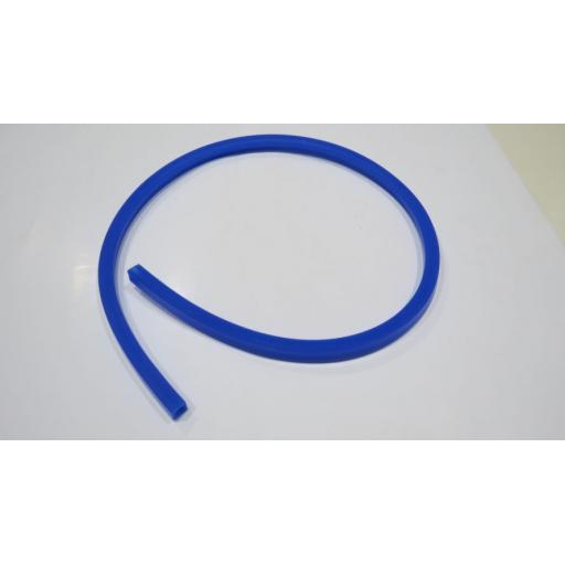 SQUARE 8MM BORE 2MM WALL BUNSEN TUBING BLUE 1M
