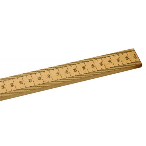 HALF Metre Wooden Ruler CM AND INCHES