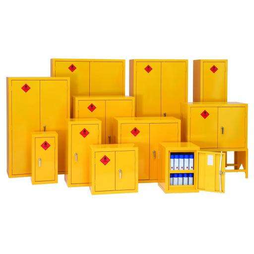 Flammable Storage Cabinet 609x609x305 Yellow