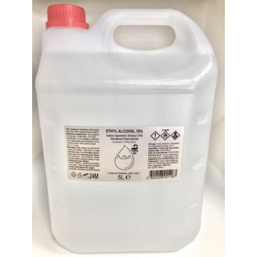 70% ALCOHOL Surface Cleaner 5Litre