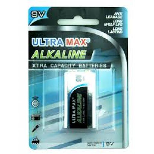 PP3 TYPE ULTRA MAX ALKALINE BATTERY PK10