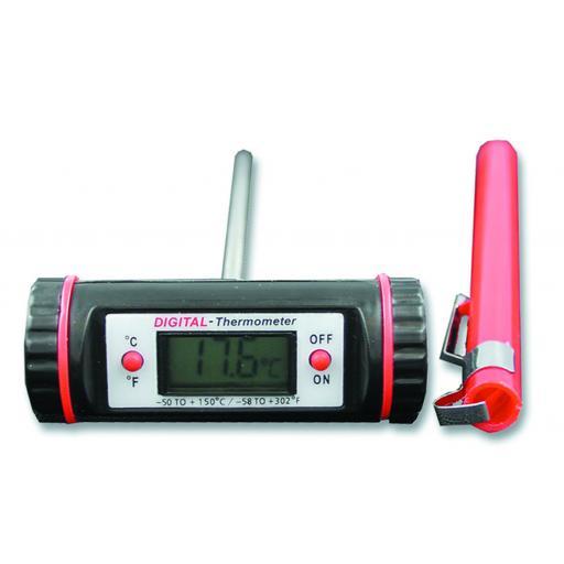 Horizontal T barrel thermometer