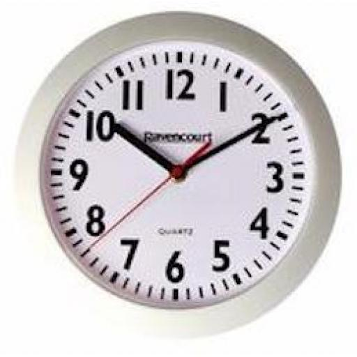"10"" White Quartz Clock"