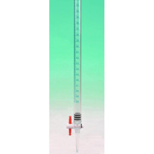 Burette plastic with interchangeable stopper, 25ml