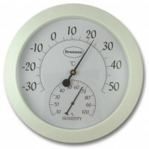 Large Dial Thermometer and Humidity Meter