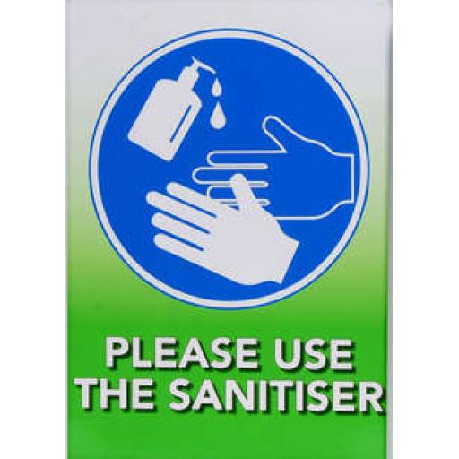 HAND SANITISING SIGN A4