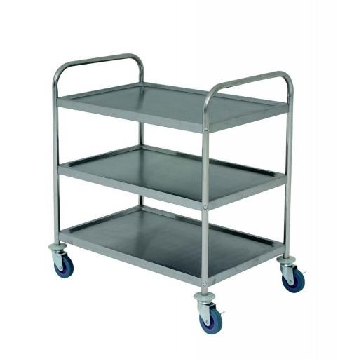 Stainless Steel 3 Tier Trolley
