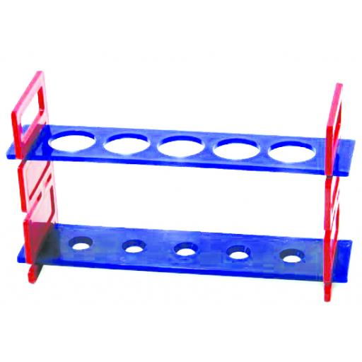 PLASTIC TEST TUBE RACK, 5 HOLES