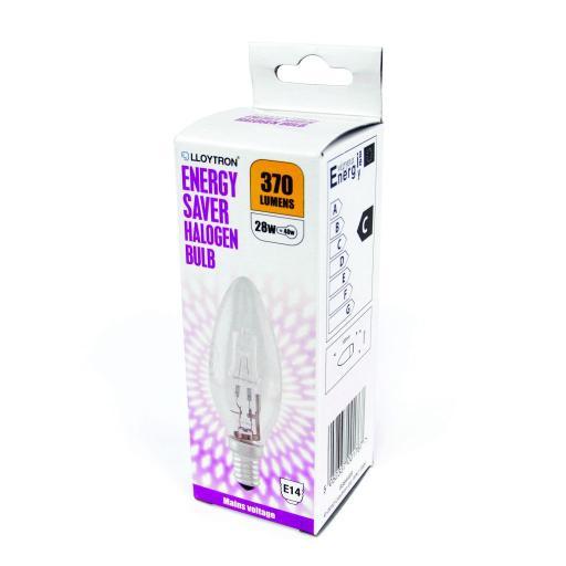 28w 240v halogen candle bulb