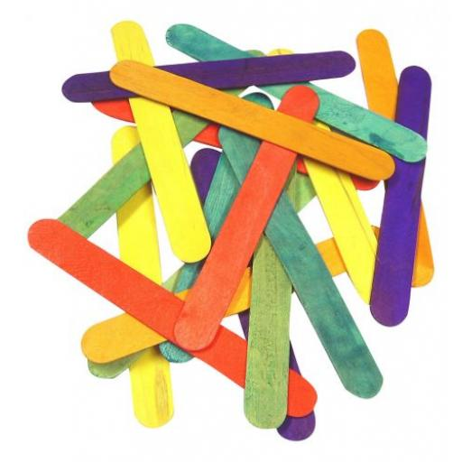 Assorted Colour Lolli Sticks PK100