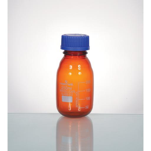 LABORATORY BOTTLE AMBER GLASS 2000ML