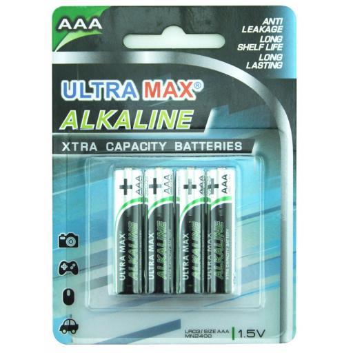 AAA ULTRA MAX ALKALINE BATTERY PK4