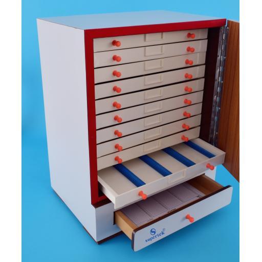 SLIDE CABINET 2000 slides in 10 drawers of 200 each