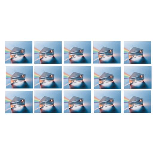 Prism glass right angled, 50mm, Class Set of15