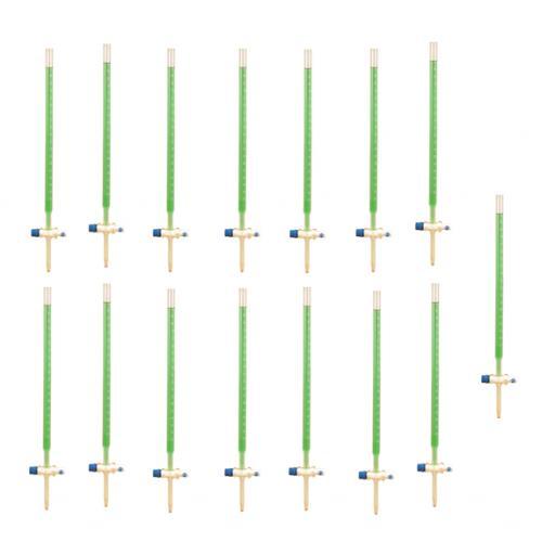 Burette class B with PTFE key 50ml Class Set of 15