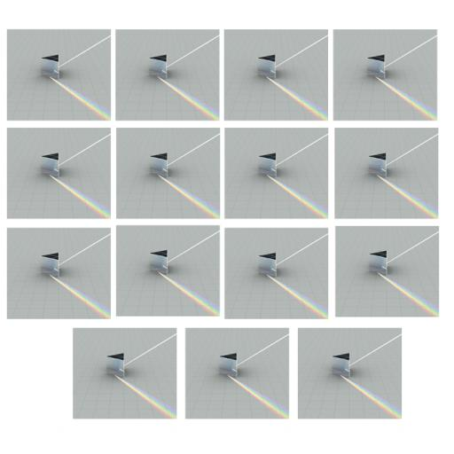 Prism glass equilateral, 50mm Class Set of 15