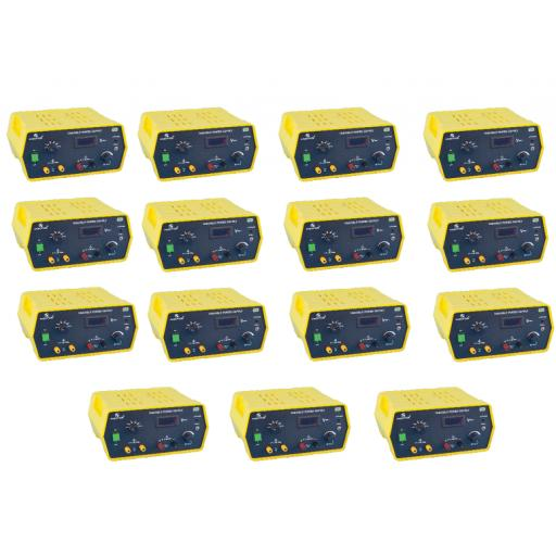 CLASS SET OF 15 REGULATED DIGITAL VARIABLE POWER SUPPLIES