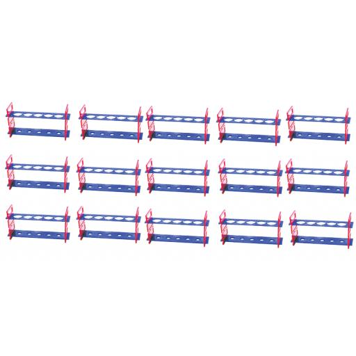 PLASTIC TEST TUBE RACK, 5 HOLES CLASS SET OF 15