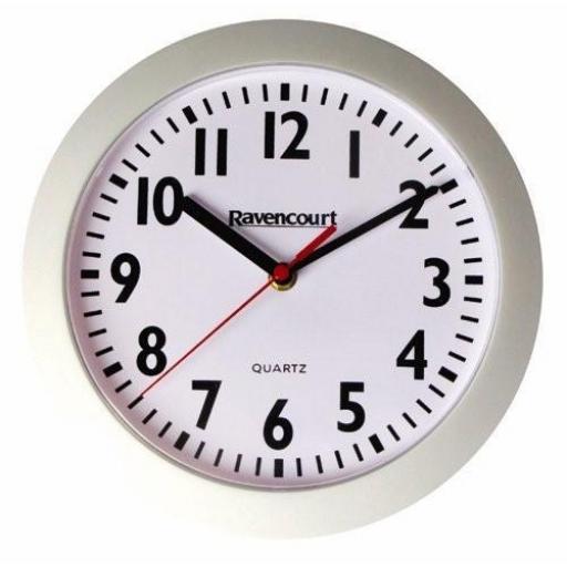 """10"""" White Quartz Clock"""